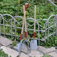 Miniature Fairy Garden Wood & Metal Garden Tool Set