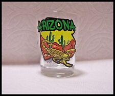 Shot Glass Arizona Scopion Stinger Recipe on Glass Desert Cactus Hot Suns New 16