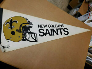 VINTAGE PENNANT NEW ORLEANS SAINTS 1980'S
