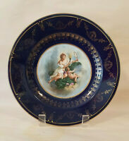 Antique Royal Vienna Porcelain hand painted Portrait Plate