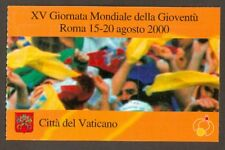 Vatican City 2000 Booklet, World Youth Day, Sc #1164a MNH