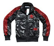 ADIDAS ORIGINALS WOMEN'S 'CHILE 62' BLACK/RED C62 LEO TT TRACK TOP JACKET