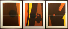 "Matthew Ruddy ""Inner Marker"" Original Paper Collage Triptych (3pc) 1982 OBO"