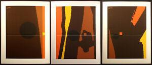 "Matthew Ruddy ""Inner Marker"" Original Paper Collage Triptych (3pc) 1982 OBO"