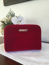 GUCCI PARFUMS Red COSMETIC MAKEUP BAG TOILETRY POUCH SHAVING DOPP KIT