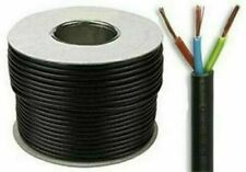 3183Y 13 AMP Electrical Cable Black Round Mains Wire Flex 1.5mm 3 Core Per Metre