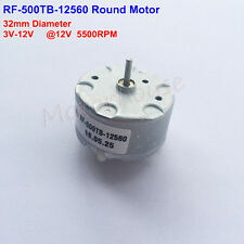 RF-500TB-12560 6V-12V 32mm Micro Round Motor for Bell Fragrance Mixer CD player