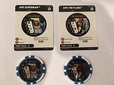 Heroclix Ape Superman & Flash 2 Tokens Invisible Plane / Jet Colossal OP Kit