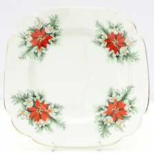 Vintage Richmond  Christmas Poinsettia Bone China Tea Plate