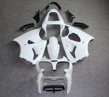 Unpainted White ABS Fairing Kit for KAWASAKI 636 ZX6R 2000-2002/ZZR600 2005-2008