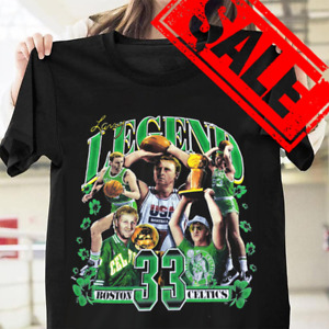 1992 Boston Celtics Larry Bird Black Gildan Unisex S-3XL T-shirt