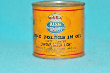 VNTG KING PAINT PRODUCTS - COLORS IN OIL - CHROME GREEN LIGHT -FULL - COLLECTORS