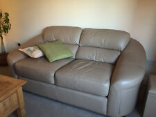 Two Seater Light Brown Genuine Leather Sofa