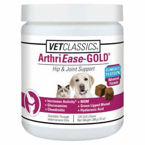 VetClassics ArthriEase-Gold Hip & Joint Support, 120 Soft Chews
