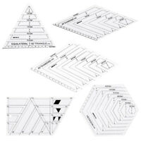 5Pcs Quilting Creative Grids Ruler Patchwork for Tailor Dressmaker pattern