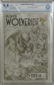 Death of Wolverine #1 - Alex Ross Sketch 1:300 Variant - CBCS 9.8 (NOT CGC)