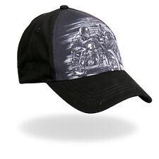 Skull Riders Hat / Black Motorcycle Baseball Cap