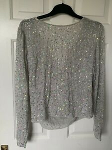 Silver Sequined Top