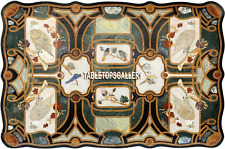 6'x3' Dining Marble Table Top Birds Inlay Decoration Furniture Home Decor H3886