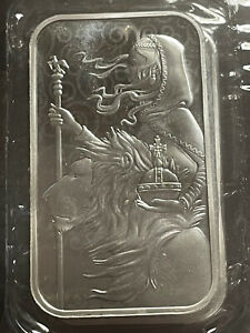 New UNA AND THE LION 1oz silver bar. Royal Mint 999.9 fine silver 4/5