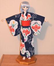 Blue OOAK Volks Yukata for SD DD Super Dollfie Dream Doll BJD Real Fabric
