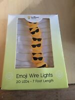 Emoji Wire Lights. Sunglass Emoji. 20 Led - 7 Ft New.