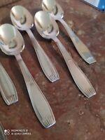 6 petites Cuillères Style Art Déco Orfèvrerie Alfénide