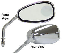 CHROME MIRRORS W/INSET MAGNIFIER INDIAN CHIEF ROADMASTER BLACKHAWK 1999-2013