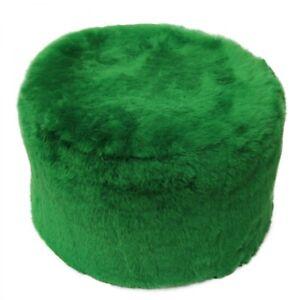 Lambskin Pouf/Sitting Stool Apple Green Fur Merino Sheepskin Stool
