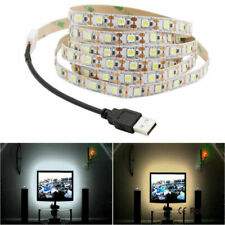5V USB LED Strip Light White TV Backlight Lamp Self Adhesive Flexible Tape Wire