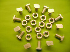 10 ALUMINIUM GREENHOUSE CROPPED HEAD 12MM BOLTS AND NUTS (see also  clips )