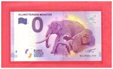 2017 GERMANY Souvenir Banknote 0 Euro Allwetterzoo Munster XEJP004791 Ltd 10000