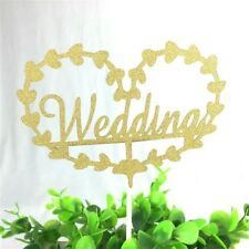 WEDDING CAKE TOPPER CUPCAKES BAKING DECORATIONS PARTY WEDDING BRIDE gold