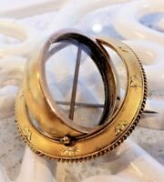 Elegant French Reversible Mourning Brooch  @ 15 Ct -Period 1839-1920