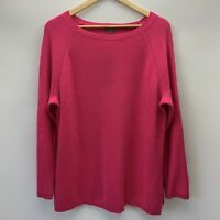 Montego Hot Pink Seed Stitch Knitted Jumper Plus Size 3XL (18) Round Neck Cotton