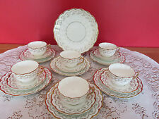 Stunning  Antique Bone china Tea set Daisy shape 19 pieces