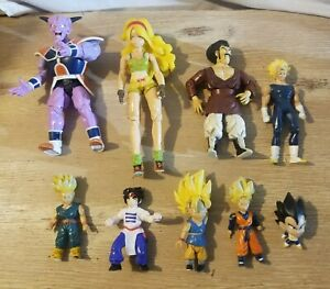 Vintage Lot Of 9 Dragon Ball Z Action Figures 2000s lunch figure is rare