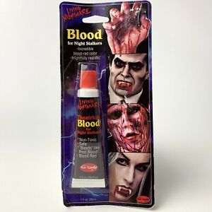 Fun World Fake Blood Theatrical Blood For Night Stalkers Makeup Non-Toxic 1 Oz