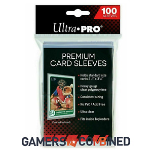 Ultra Pro Penny Card Sleeves x100 PREMIUM🔥 Clear Fit Pokemon NBA & Toploaders