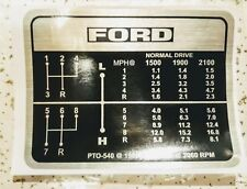 Ford Tractor Gear Shift Decal 8-Speed 5000 5100 5600 6600 6700 7000 7100 7700