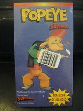 Popeye Superman, Aladdin And His Wonderful Lamp, The Mummy Strikes, Vhs Tape