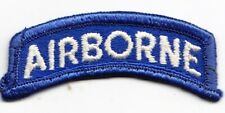 Blue & White Airborne tab  used  US Army