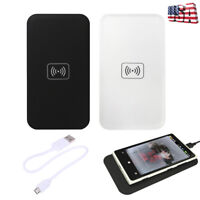 Portable Qi Wireless Charger Charging Pad Universal For iPhone Samsung LG HTC