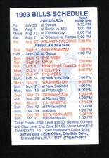 Buffalo Bills--1993 Pocket Schedule--Southtown Sports Center