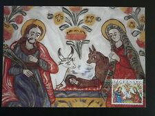 religious art christmas 1994 Nativity maximum card Slovakia 85713