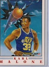 1991 - 1992 Fleer Pro-Visions Karl Malone Utah Jazz #5 Basketball Card