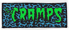 Neon UV Green & Black Cramps Psychobilly Punk Goth Blue Leopard OVERLOCKED Patch