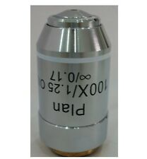 Microscope Objective Lens 100X /1.25 (Oil Spring) Infinity Plan Achromatic NEW