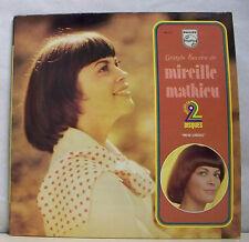 """2 x 33 tours Mireille MATHIEU Disque LP 12"""" GRANDS SUCCES - PHILIPS 6641231 RARE"""