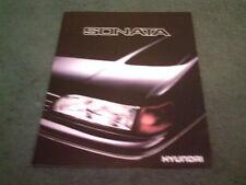 1989 Hyundai Sonata Berline-anglais marché coréen 6 page dossier de brochure